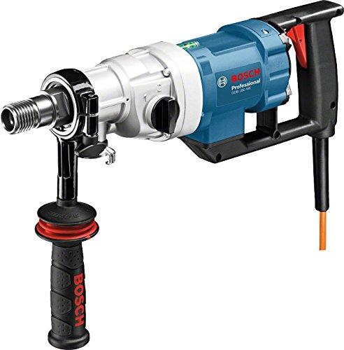 Bosch Professional 0601189800 Professional GDB 180 WE Nass-Diamantbohrmaschine, 180 mm Bohrbereich, Adapter Staubabsaugung, Kugelhahn, 5,2 kg, 2.000 W, Koffer, 2000 W, 240 V, Schwarz, Blau, Weiß