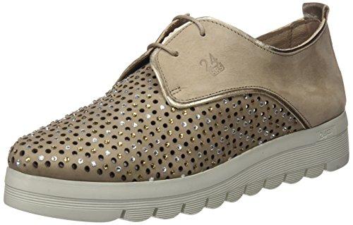 24 HORAS 23574, Zapatos de Cordones Oxford Mujer, Beige (Taupe 10), 41 EU
