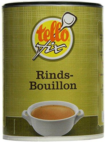 tellofix Rinds-Bouillon - Vielseitige Fleisch-Brühe, als Universal-Würzmittel zum Verfeinern einsetzbar - kalorienarm - 1 x 540 g