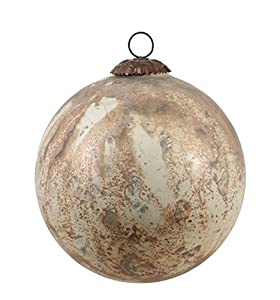 "Creative Co-Op XC5677 Natural Lodge 6"" Round Glass Ornament with Marble Design At Creative Co-Op, passion is at the heart of all we do - passion for Product, passion for quality, and passion for customer success. It is this passion that grew a compan..."