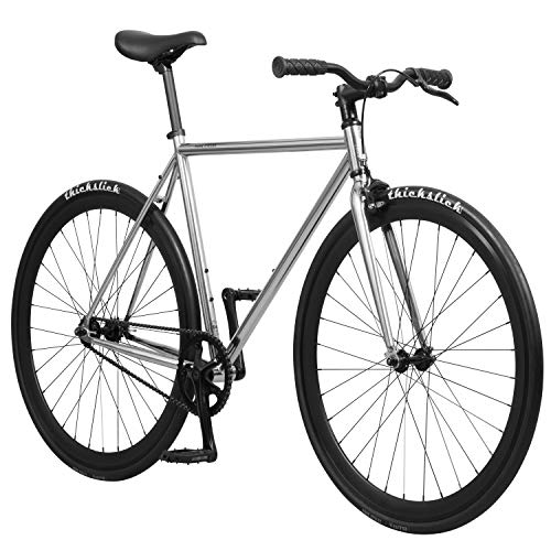 Pure Fix Original Fixed Gear Single Speed Fixie Bike, Oscar Chrome, 50cm/ Small