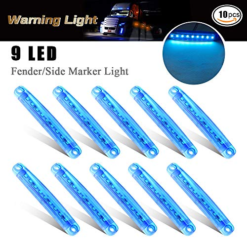 10 pz luce di indicatore laterale auto 9 LED SMD indicatore di posizione luce anteriore luci di...
