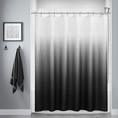 Black Shower Curtain, Polyester Ombre Bath Shower Curtains for...