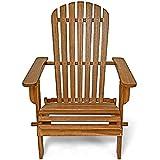 Sonnenstuhl Adirondack Akazienholz klappbar abgerundete Armlehnen Deckchair Liegestuhl Holzstuhl Gartenstuhl - 4