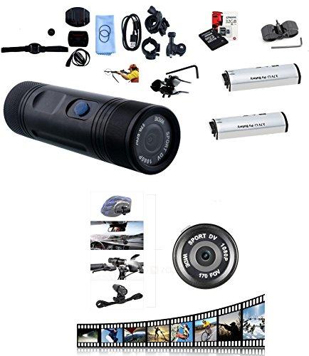 OemSec Telecamera Sportiva Full HD 1080 con Attacco Supporto Canna Fucile Caccia + 2 Batterie + SD Card 32 GB / 5 Ore di Utilizzo Continuo