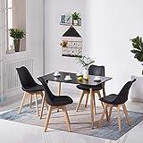 H.J WeDoo Table Salle à Manger Rectangulaire Scandinave Design Bois pour 4 a 6...