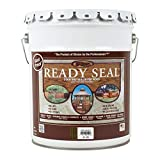 Ready Seal 525 Exterior Stain and Sealer for Wood, 5-Gallon, Dark Walnut