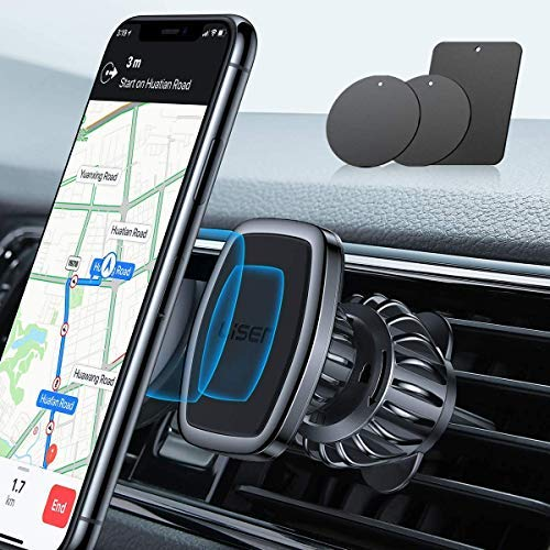 LISEN Phone Holder Car, [Upgraded Clip] Magnetic Phone Mount [6 Strong Magnets] Car Phone Mount...