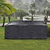 king do way Outdoor Patio Furniture Covers, Extra Large Outdoor Furniture Set Covers Waterproof, Windproof, Tear-Resistant, UV, Fits 12-14Seat (Upgraded Version) 124'X70'X29'