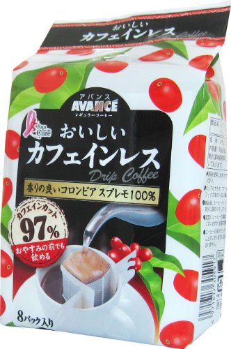 アバンス おいしいカフェインレスドリップコーヒー (7g×8P)×6個