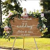 Tarjeta de bienvenida de boda banquete de boda fecha de boda etiqueta de la pared de vinilo introducción al piso de la boda etiqueta de la pared etiqueta de la pared de la cocina y el comedor