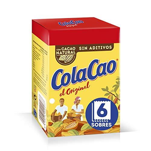 ColaCao Original: con Cacao Natural - 6 Sobres de 18g