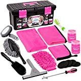 Car Wash Kit, Pink Car Cleaning Kit Interior and Exterior, Car Accessories for Women - Cleaning Gel,...