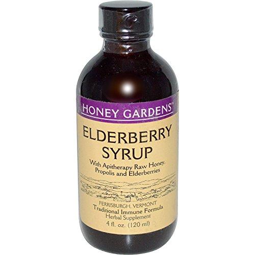 Honey Gardens Elderberry Syrup w/Apitherapy Raw Honey, Propolis & Elderberries | Immune Formula | 24 Serv | 4 fl. oz. 1