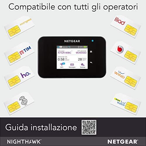 Product Image 1: Netgear AC810 Router 4G Portatile, Hotspot con Velocità di Download fino a 600 Mbps, Connetti fino a 15 Dispositivi