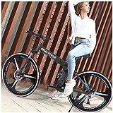 26in Folding Mountain Bike 21 Speed Bicycle Full Suspension MTB Bikes/Mountain Bike/Adult Mountain Bike/All-Terrain Mountain Bike