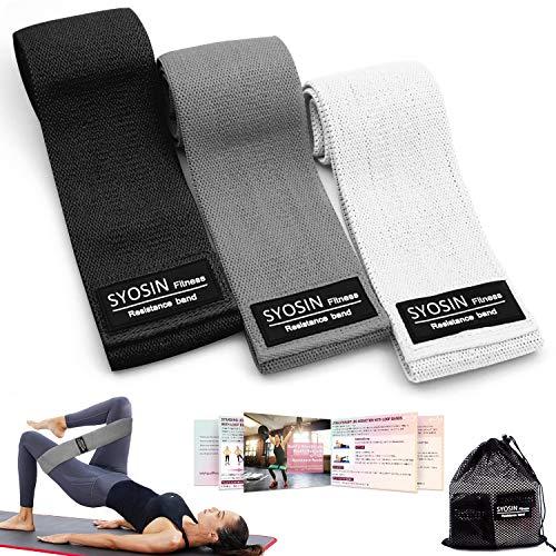 SYOSIN Bande Elastiche di ResistenzaElastici Fitness(3 Pezzi) 3 Livelli di Resistenza per allenare...