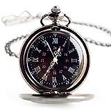 Flyproshop Pocket Watches Quartz Pocket Watch Classic Vintage Roman...