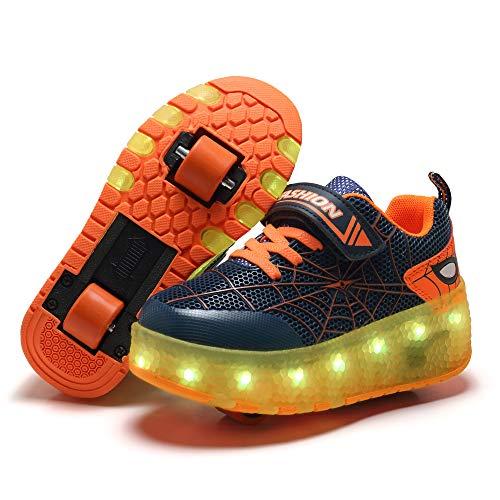 Ylllu Kids LED USB Charging Roller Skate Shoes