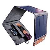 CHOETECH Chargeur Solaire, 14 W Chargeur Pliable Solaire 4 Panneaux Imperméable Léger Portable...