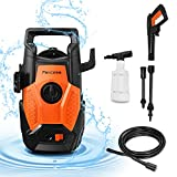 Portable Powerful Electric Pressure Washer, Paxcess High Power Car Washer Machine with Adjustable Nozzle, Foam Cannon for Car, Patio, Floor and Driveway Cleaning