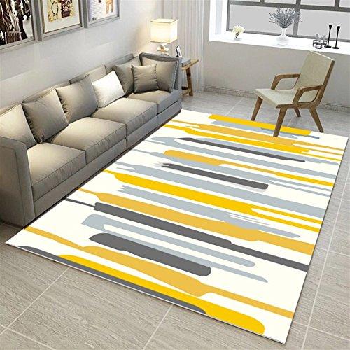 Ommda tappeti Salotto Soggiorno Moderni Home 3D Geometric Printing tappeti Soggiorno Pelo Corto...