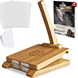 panan Wooden Tortilla Press - 10-Inch Square Mexican Tortillera Presser Made from Natural Food-Grade Acacia Wood - Large Wood Pataconera with 50 Pieces Parchment Paper, Dough Cutter and Recipes eBook