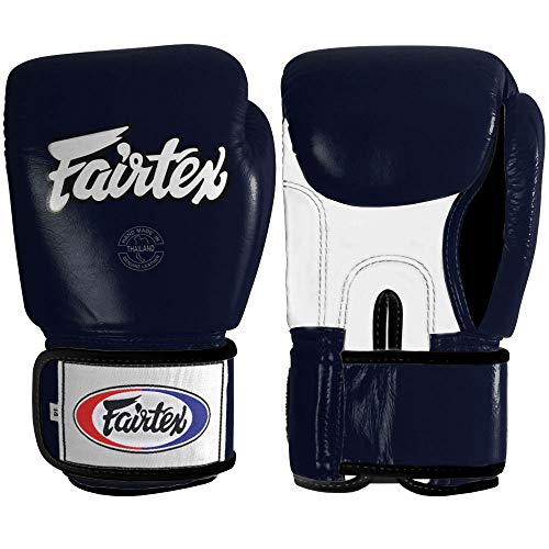 Fairtex Muay Thai Style Training Sparring Gloves, 18 oz, Blue