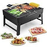 Uten Barbecue Portable en Acier Inoxydable à Charbon de Bois pour Barbecue...