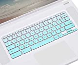 CASEDAO Keyboard Cover for 2019 2018 Acer Chromebook 15 CB3-531 CB3-532 CB5-571 CP315 CB515 C910   Chromebook Spin 15 CP315   Acer Chromebook Spin 13 CP713 Laptop Skin - Gradual Mint