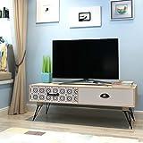 Festnight Meuble Banc TV Table de Chevet Design Scandinavee en MDF 100 x 40...