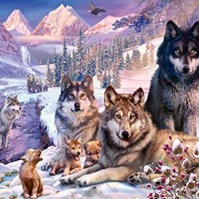Ravensburger Lobos en la nieve Puzzle 2000 Pz, Puzzle para adultos