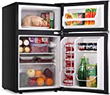 LEONARD USA 115 L Inverter Double Door Mini Refrigerator / Small Fridge with Separate Deep Freezer Compartment & Interior Light for Home, Office or Bar (Based on American Technology) (LEUSADDREFUF, Black & Silver, Double Door)