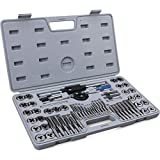 """60-Pc Master Tap and Die Set - Include SAE Inch Size #4 to 1/2"""" and Metric Size M3 to M12, Coarse and Fine Threads 