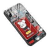 DKMR本舗 iPhone 11 ケース SUP 強化ガラスケース アイフォンXカバー スマホハードケース APP……