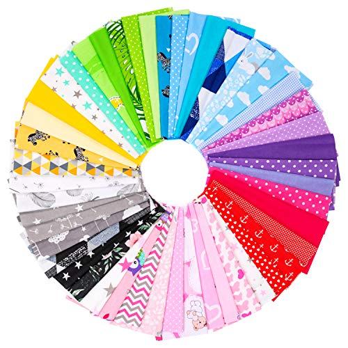 Amilian Paket: 20 Stück je ca. 30 x 25 cm Baumwollstoff Meterware Stoffe Stoffreste Stoffpaket für Patchwork 100{e790011edc14b97babe796fcb000262051c165ae8b976a1dab68a061d16c9bb3} Baumwolle DIY Baumwollstoff Baumwolltuch mit vielfältiges Muster zum nähen