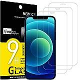NEW'C 3 Pezzi, Vetro Temperato Compatibile con iPhone 12/12 Pro (6.1'), Pellicola Prottetiva Anti Graffio, Anti-Impronte, Durezza 9H, 0,33mm Ultra Trasparente, Ultra Resistente