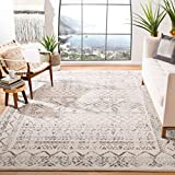 Safavieh Tulum Collection TUL268A Boho Moroccan Distressed Area Rug, 6' x 9', Ivory/Grey