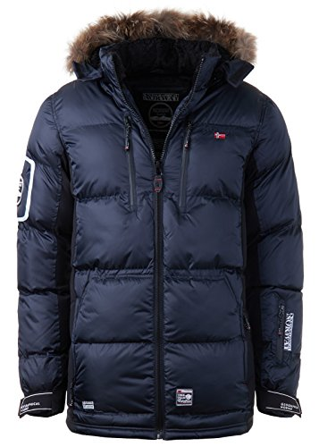 Geographical Norway–Chaqueta de plumas, chaqueta de invierno exterior, chaqueta funcional para hombre azul marino X-Large