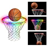 OPOLEMIN LED Basketball Hoop Light - Basketball Rim LED Sensor Light Basketball Net Accessories Perfect for Kids Adults Parties and Training at Night Outdoors Provides Exciting and Vibrant Instant