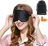 Masque de Sommeil, Masque de Nuit Soie, 100% Soie Naturelle Occultant Ultra-Douce Masque de Voyage...