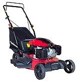 PowerSmart DB8621P 3-in-1 159cc Gas Push Mower, 21', Red, Black