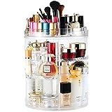 Organizador de maquillaje, soporte de exhibición cosmético giratorio de 360 grados, organizador de tocador ...