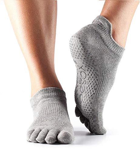 Toesox Ytoewtlrhm, Calze per Yoga E Pilates Unisex Adulto, Heather Grey, Medium
