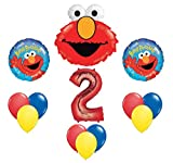 Elmo Sesame Street #2 2nd Second Birthday Party Supply Balloon Mylar Latex Set by Anagram