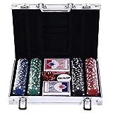 Malette Pro Poker Coffret Complet 30L x 21l x 6,5H cm 200 jetons 2 Jeux de...