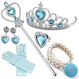 NNDOLL Accessoires Elsa Reine Princesse kit Jouet Filles Enfants Carnaval...
