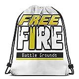 AOOEDM Games Free Fire Sport Sackpack Mochila con cordón Bolsa de gimnasio Saco