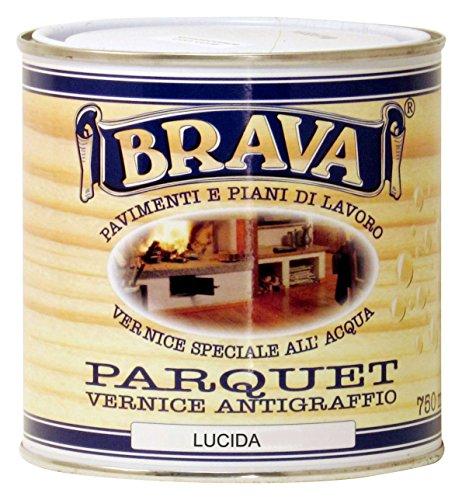 Brava PA7 Parquet Vernice all'Acqua Lucido, Incolore, 750 ml