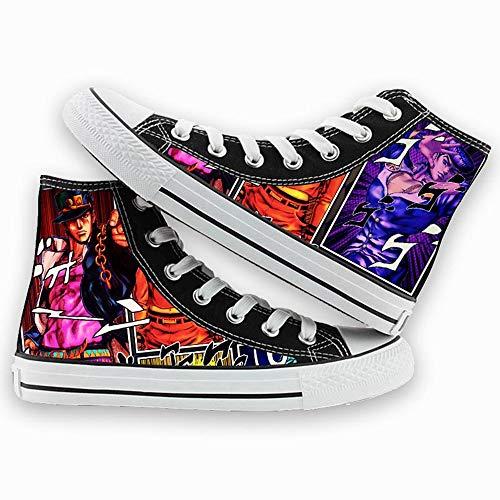 NIEWEI-YI Alpargatas Altas JoJo's Bizarre Adventure Anime Zapatos De Lona Hombres Mujeres Zapatos Casuales Zapatos De Viaje Al Aire Libre,36 EU